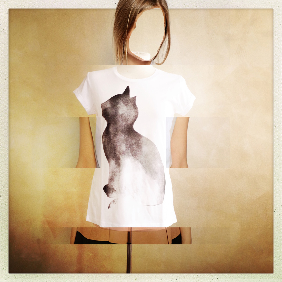 women T Cat white